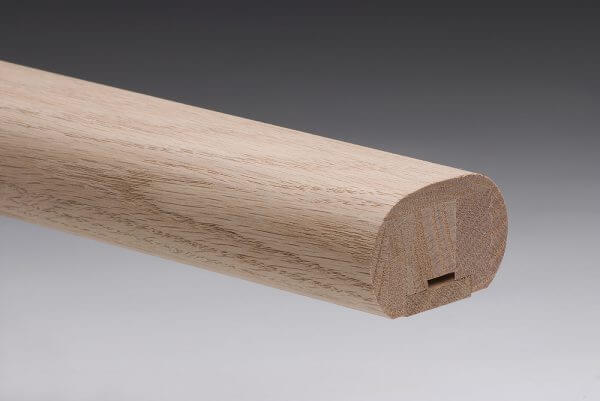 American Oak Oval Handrail with 32mm rebate and fillett