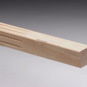 Fluted Pine Stair Baluster