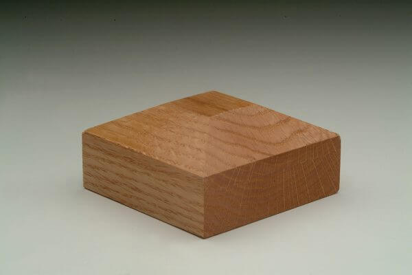 Peaked Square (type 3) American Oak Handrail Post Cap