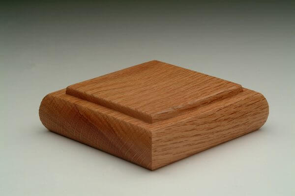 Detailed Square (type 2) American Oak Handrail Post Cap