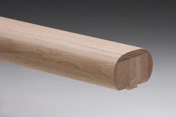 American Oak Oval Handrail with 12mm rebate and fillett